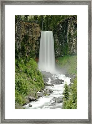 Tumalo Falls Framed Print by Dave Brenner