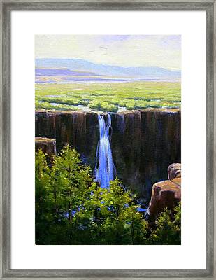 Tumbling Falls Co Framed Print by Vickie Fears