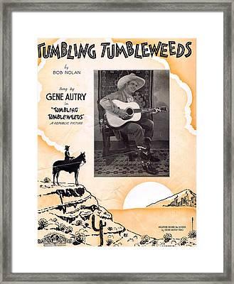 Tumbling Tumbleweeds Framed Print