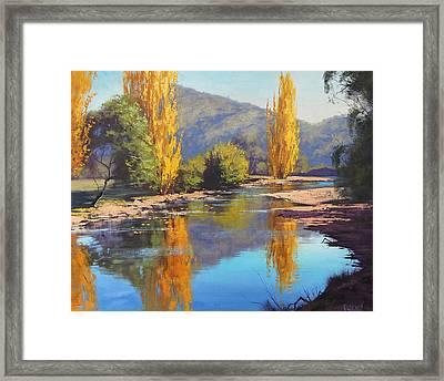 Tumut River Gold Framed Print by Graham Gercken