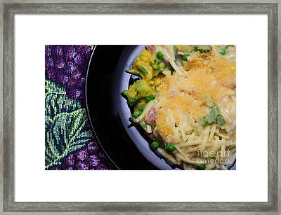 Tuna Noodle Casserole Framed Print by Andee Design