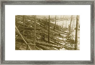 Tunguska Event, 1908 Framed Print by Science Source