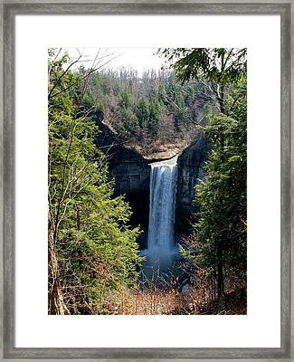 Tunkhannock Falls 1 Framed Print by Joshua House