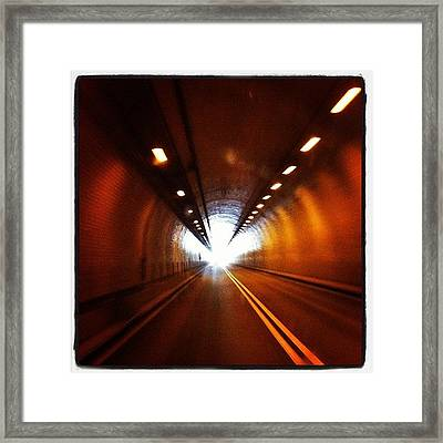 Tunnel In West Virginia Framed Print by  Abril Andrade Griffith