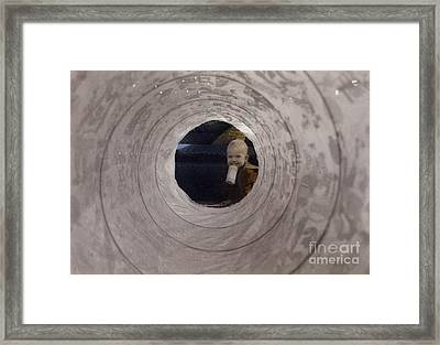 Tunnel Of Fun Framed Print by Cindy Roesinger