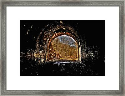 Tunnel Of Gold Framed Print by Shirley Tinkham