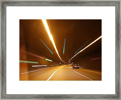 Tunnel Framed Print by Rolfo