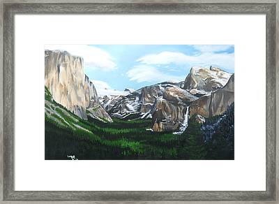 Tunnel View Framed Print by Travis Day
