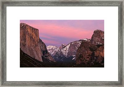 Tunnel View Twilight Framed Print by Adam Pender