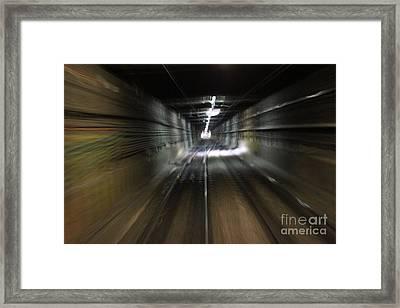 Tunnel Vision Framed Print by Balanced Art