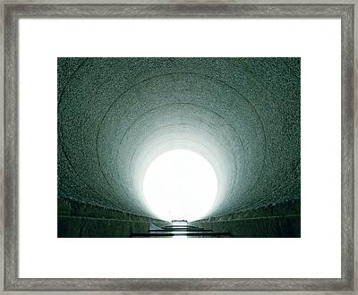 Tunnel Vision Framed Print by Jan W Faul