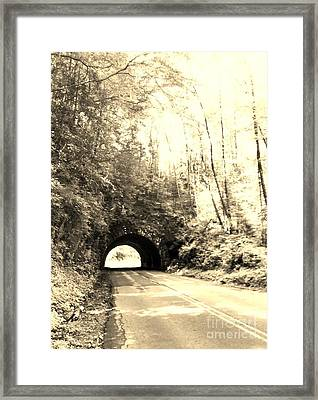 Tunnel Vision Framed Print by Janice Spivey