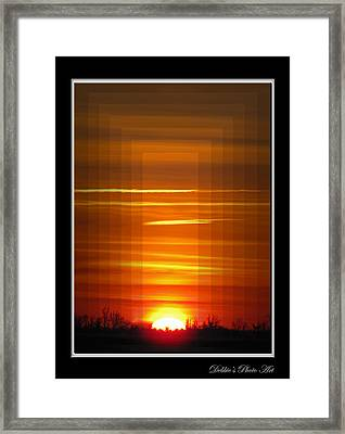 Tunnle Vision Framed Print by Debbie Portwood