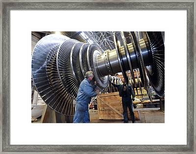 Turbine Rotor Assembly Area Framed Print by Ria Novosti