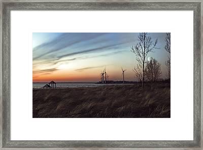 Turbine Sundown Framed Print