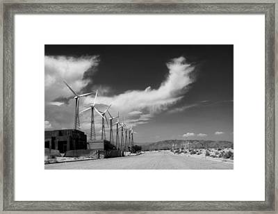 Turbine Town Palm Springs Framed Print by William Dey