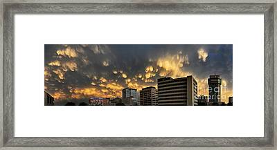 Turbulent City Framed Print