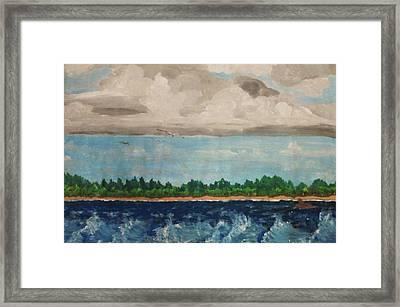 Turbulent Framed Print by Jeanette Stewart
