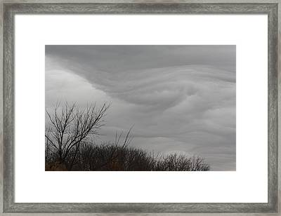 Turbulent Sky Framed Print by Deb Kline