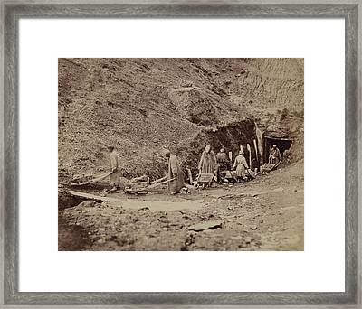 Turkestani Workers Hauling Coal From An Framed Print by Everett