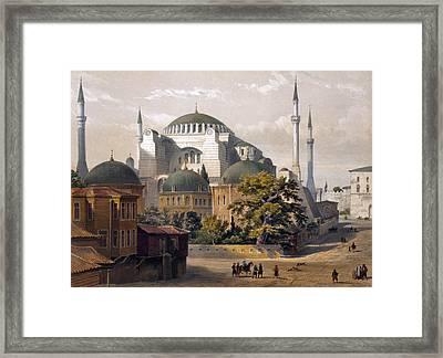 Turkey: Hagia Sophia, 1852 Framed Print by Granger