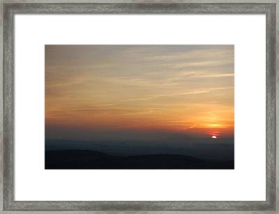 Turkey Heaven Sunset Framed Print by Beverly Hammond
