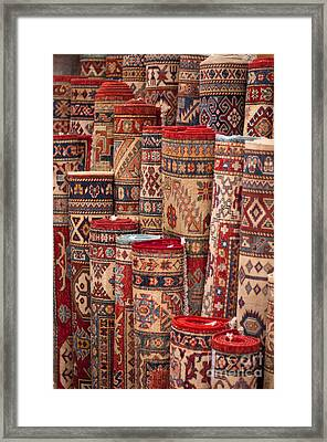 Turkish Carpets Framed Print by Andrew  Michael
