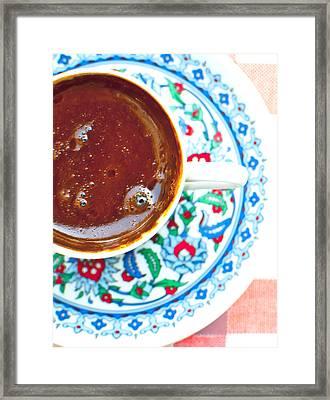 Turkish Coffee Framed Print by Noelia Hn