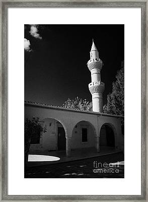 Turkish Cypriot Mosque In Mixed Divided Pyla Village Republic Of Cyprus Framed Print