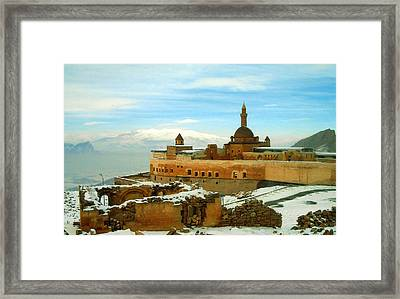 Framed Print featuring the photograph Turkish Fortress by Lou Ann Bagnall