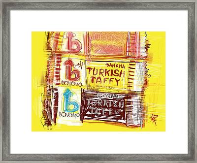 Turkish Taffy Framed Print