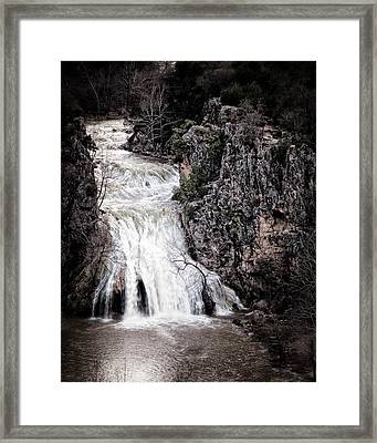 Turner Falls Roar Framed Print by Tamyra Ayles