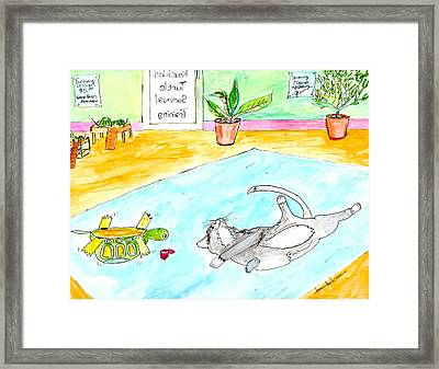 Turning Lessons Framed Print by Lou Belcher