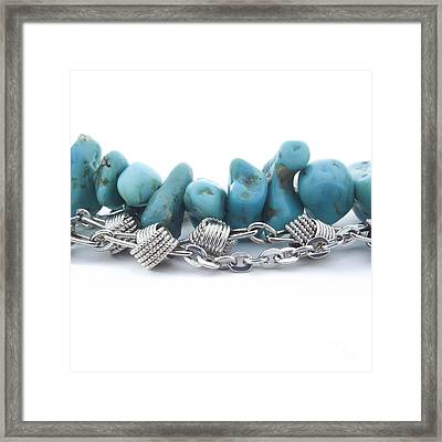 Turquoise Framed Print by Blink Images