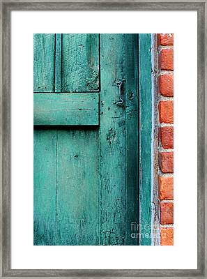 Turquoise Door Framed Print by HD Connelly
