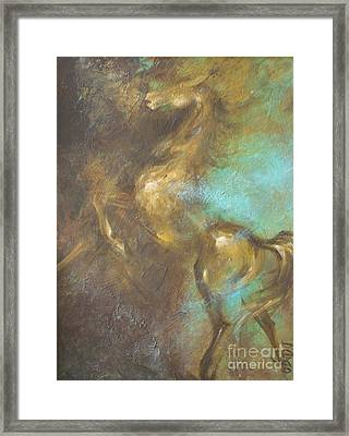 Turquoise Dust 2 Framed Print by Dina Dargo