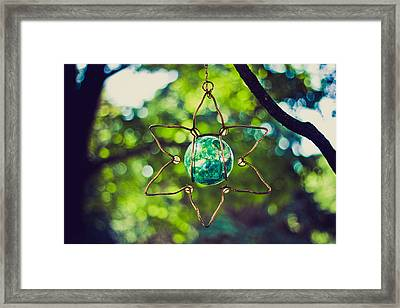 Turquoise Light Framed Print by Sara Frank