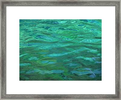Turquoise Ripples Framed Print