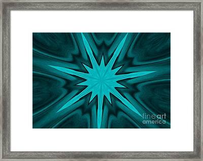 Turquoise Star Framed Print by Marsha Heiken