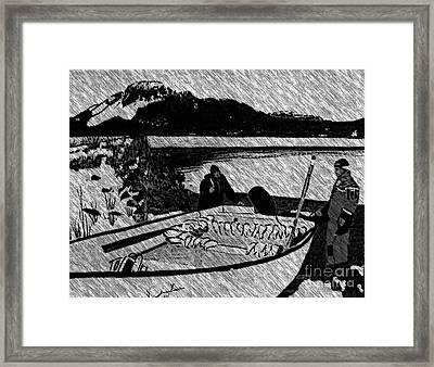 Turr Hunt Sketch Framed Print by Barbara Griffin