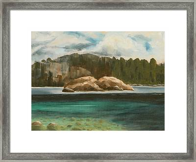 Framed Print featuring the painting Turtle Island by Jo Appleby