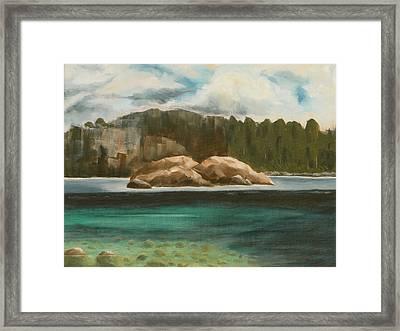 Turtle Island Framed Print by Jo Appleby