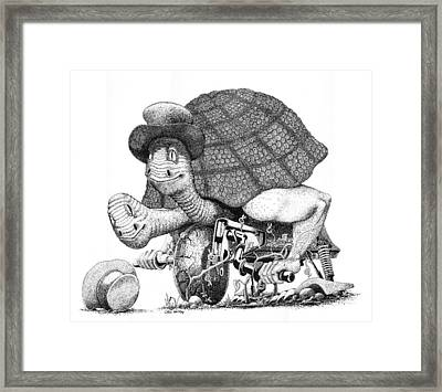 Turtle Thing Framed Print by Olin  McKay