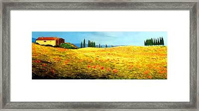 Tuscan Beauty Framed Print