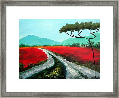 Tuscan Bliss Framed Print by Larry Cirigliano