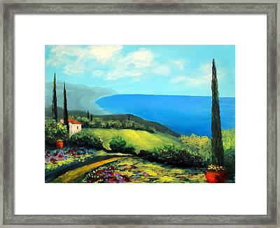Tuscan Coastline Framed Print