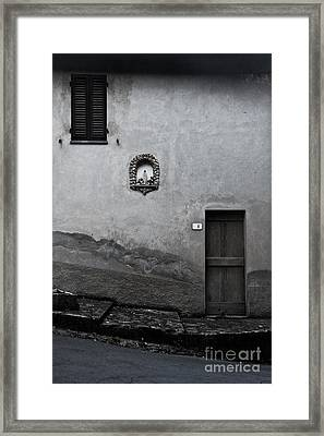 Tuscan Door Framed Print by Steven Gray