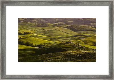 Tuscan Hills Framed Print by Andrew Soundarajan