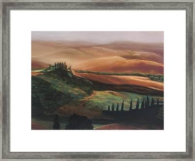 Tuscan Hills Framed Print by Elise Okrend