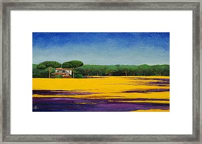 Tuscan Landcape Framed Print by Trevor Neal